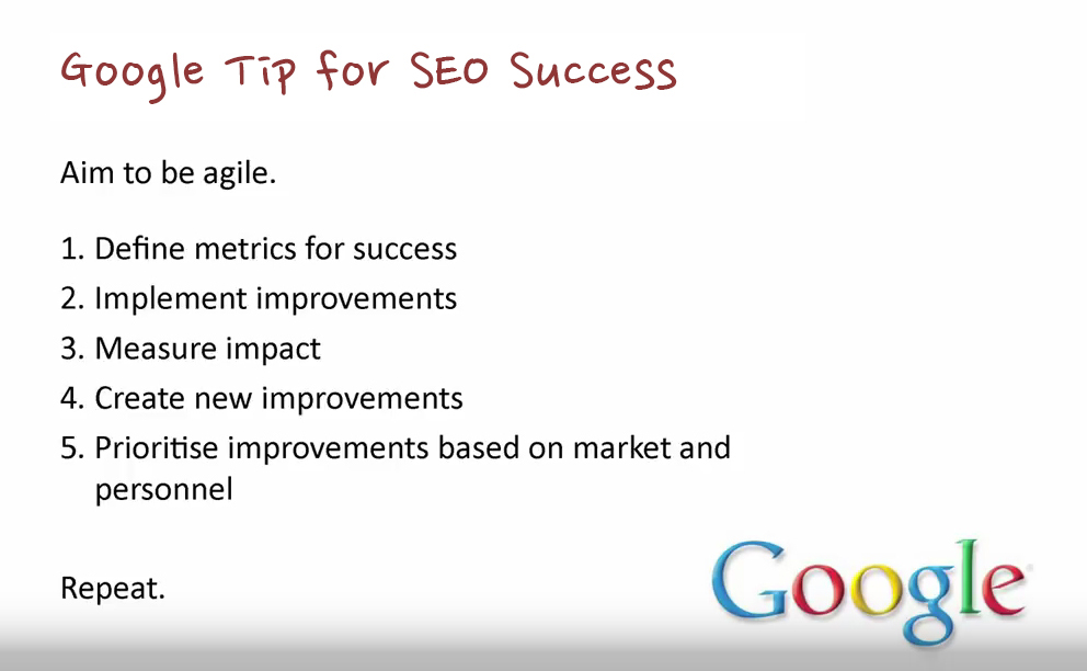 An SEO Wirral tip from Maile Ohye from Google